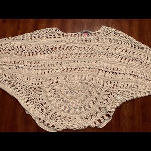 Lightweight Crocheted Poncho - Stylish Accessory!